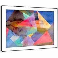 AB1343 Colourful Retro Cool Modern Abstract Framed Wall Art Large Picture Prints