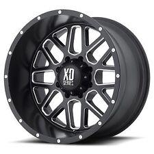 4 20 inch XD820 20x12 Black Milled -44MM CHEVY DODGE 8X6.5 8x165.1 Rims 8 Lug