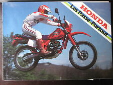 MOTO HONDA GAMME 1985 CATALOGUE PROSPECTUS BROCHURE 125 MTX MBX XL CB CM CG DAX