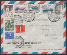 NETHERLANDS, 1950. Air Cover B208-213, Amsterdam - Berkeley