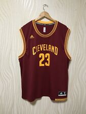 CLEVELAND CAVALIERS LEBRON JAMES #23 NBA BASKETBALL SHIRT JERSEY ADIDAS