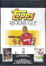 2006-07 06-07 TOPPS NBA BASKETBALL RACK PACK SEALED BOX: LARRY BIRD/WADE/REDICK