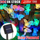Garden Solar Powered Butterfly Fairy String Led Lights Waterproof Party Outdoor