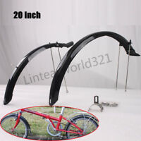 "20"" Folding Bike Mud Guard set Durable Front Rear Fenders BMX Mudguards 1 Pair"