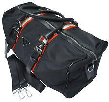 PRADA Nylon Bag With Saffiano Leather Trim Black Free/Fast Shipping