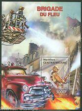 Central Africa 2013 Fire Brigade Souvenir Sheet Mint Nh