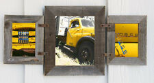 (1) 8x10 & (2) 5x7 Collage Rustic Reclaimed Barn Wood Picture Photo Frame