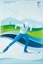 Original Vintage Poster Vancouver Winter Olympics Canada 2010 Cross Country Ski