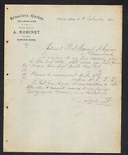 """PONT-SUR-YONNE (89) QUINCAILLERIE METAUX """"GUILLON / A. ROBINET Succ"""" en 1890"""