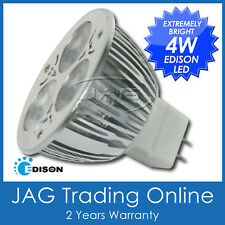 12V 4W (3x1W) EDISON LED COOL WHITE MR16 DOWN LIGHT GLOBE - Ceiling/Caravan/Boat