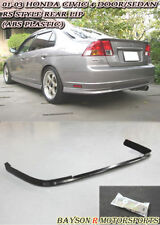 RS Style Rear Lip (PP) Fits 01-03 Honda Civic 4dr Sedan