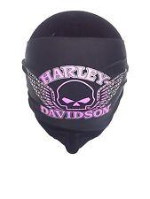Genuine Harley Davidson Ladies Women's Pink Skull Scrunchie Headband HE71530