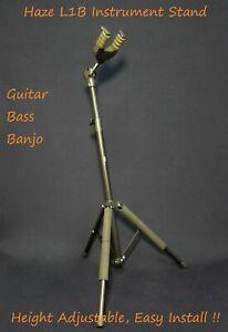 Haze L1B Metal & Rubber Structure Guitar Stand,Foldable,Tripod Base,Self-Locking