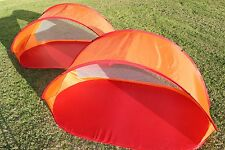 POP UP SHELTER / TENT RED FOR BEACH, CAMPING, HIKING, BACKYARD