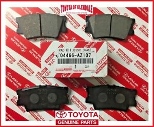 TOYOTA AVALON/HV, CAMRY, RAV4/EV REAR CERAMIC BRAKE PADS GENUINE OEM 04466-AZ207