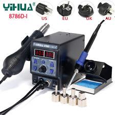 YIHUA 8786D-I Rework Soldering Station Hot Air Gun SMD Welding Solder Iron 220V