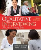 Qualitative Interviewing : The Art of Hearing Data, Paperback by Rubin, Herbe...
