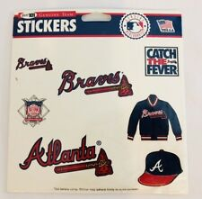 Atlanta Braves Sticker Sheet Sport 101 Genuine Team Stickers NEW VTG