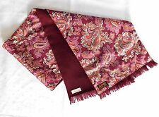 Sammy vintage British scarf pink Paisley Dicel lambswool 1950s 1960s MOTH DAMAGE