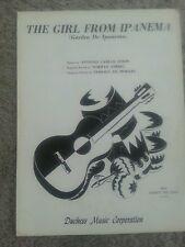 "VINTAGE SHEET MUSIC ""The Girl From Ipanema"" (1968) (Garota De Ipanema)"