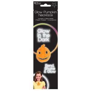 Glow In The Dark Pumpkin Necklace - Halloween Toy Loot/Party Bag Childrens Stick