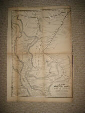 IMPORTANT EARLY ANTIQUE 1854 HUALLAGA AMAZON RIVER PERU SOUTH AMERICA MAP RareNR