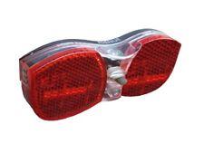 LED Fahrrad Batterie Rücklicht für Gepäckträger-Montage inkl.Reflektor mit STVO