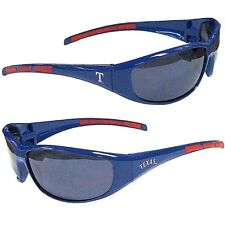 TEXAS RANGERS SUNGLASSES 3 DOT WRAP MLB UV 400 PROTECTION WITH POUCH