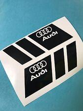2x AUDI Logo Aufkleber Car Window Bumper Laptop Sticker Vinil 200