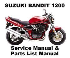 SUZUKI GSF1200 BANDIT - Owners Workshop Service Repair Parts Manual PDF on CD-R