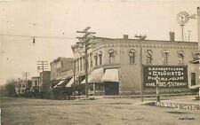 c1910 Albany Wisconsin Street Scene Roberts Druggist RPPC Real Photo Green  5929