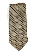 Calvin Klein Premium Black Gray Blue Diagonal Striped Silk Tie