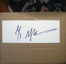 M Night Shyamalan signed autograph 3.5x9 inch card (Oversized) COA