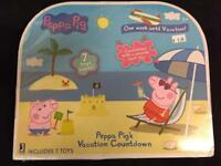 Peppa Pig's Vacation Countdown Calendar Surprises Each Day For A Week BRAND NEW