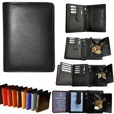 Geldbörse mit RFID-Blocker Geheimfächer Wiener Schachtel Portemonnaie Geldbeutel