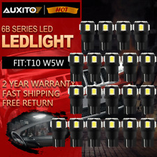 20x AUXITO T10 194 168 W5W  Car LED SMD Super White Car Side Wedge Light Bulb