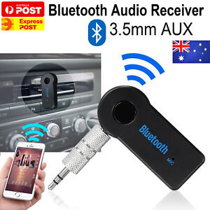 Wireless Bluetooth 3.5mm AUX Audio Music Receiver Stereo Home Car Adapter AU