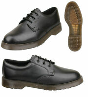 Mens Black Leather Shoes With Air Soles Size UK 6 7 8 9 10 11 12