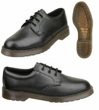 Mens Black Leather Shoes With Air Soles Size UK 6 7 8 9 10 11 12 13 14