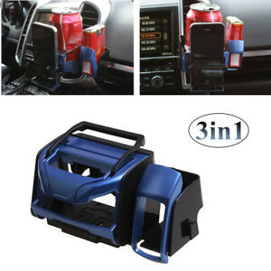 3 in 1 Air Vent Phone Mount Cup Holder Organizer Drink Bottle Can Bracket Stand