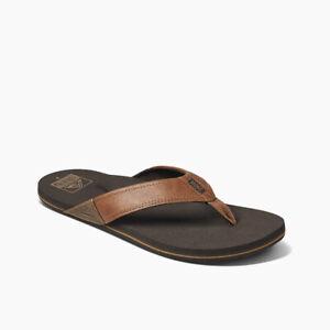 Reef Men's Newport Flip Flops Sandals - Tan NWT