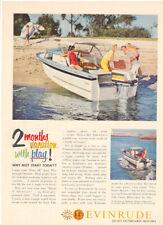 1969  EVINRUDE OUTBOARD MOTORS MAGAZINE AD     FAMILY BOATING