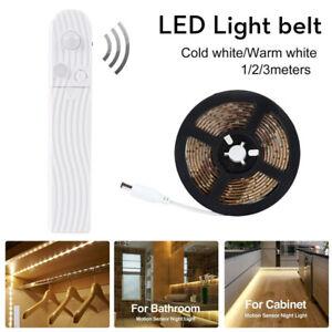 Wireless PIR Motion Sensor LED Strip Lamp Stairs Night LightsBed Cabinet Closet
