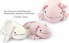 Sea Creature Axolotl Mexican Salamander Realistic Stuffed Plush 2 Doll Toys Set