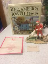 Lowell Davis Rfd America Christmas At Red Oak Ii Figure In Box W/ Coa