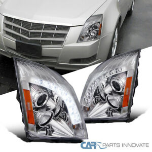 For 08-14 Cadillac CTS CT-S LED Tube Projector Headlights Signal Lamp Left+Right
