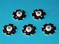 5 X 3W 850nm IR POWER  LED on HEATSINK Kühlkörper Emitter Infrarot Infrared 5mm