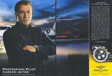 "Breitling Watch ""John Travolta"" 2005 Magazine Advert #672"