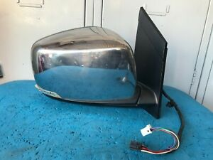 08-14 CHRYSLER GRAND VOYAGER RIGHT DOOR MIRROR,CHROME,HEATED,FOLDING,15WIRE2PLUG
