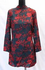 ASOS Womens Parisian Petite High Neck Floral Shift Dress ML3 Red Size US:8 UK:12